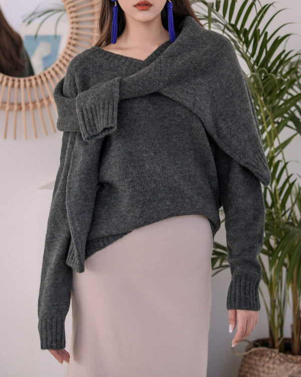 ALPACA DOUBLE LAYERED SWEATER