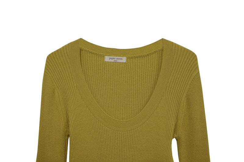 LONG SLEEVE WOOL KNIT TOP
