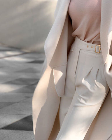 BELT DETAIL PIN TUCK SLACKS
