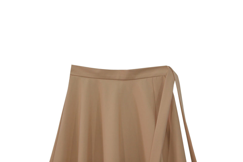 SLIT DETAIL FLARED MIDI SKIRT
