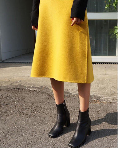 LUXE HANDMADE WOOL SKIRT