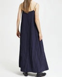 SLEEVELESS MAXI FLARED DRESS