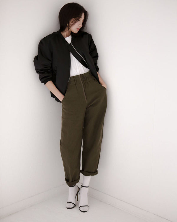 COTTON COCOON PANTS - 3 COLORS