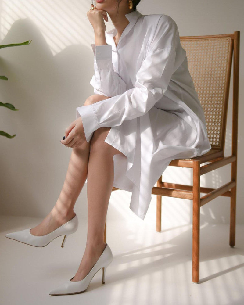ASYMMETRIC LOOSE SHIRT DRESS