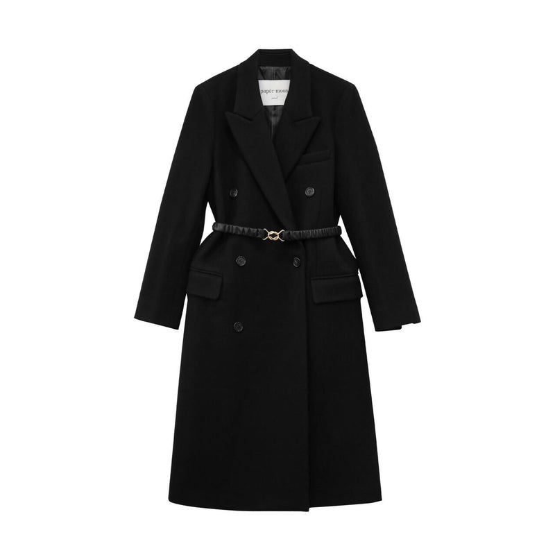 CLASSIC WOOL BELTED DOUBLE BREASTED COAT