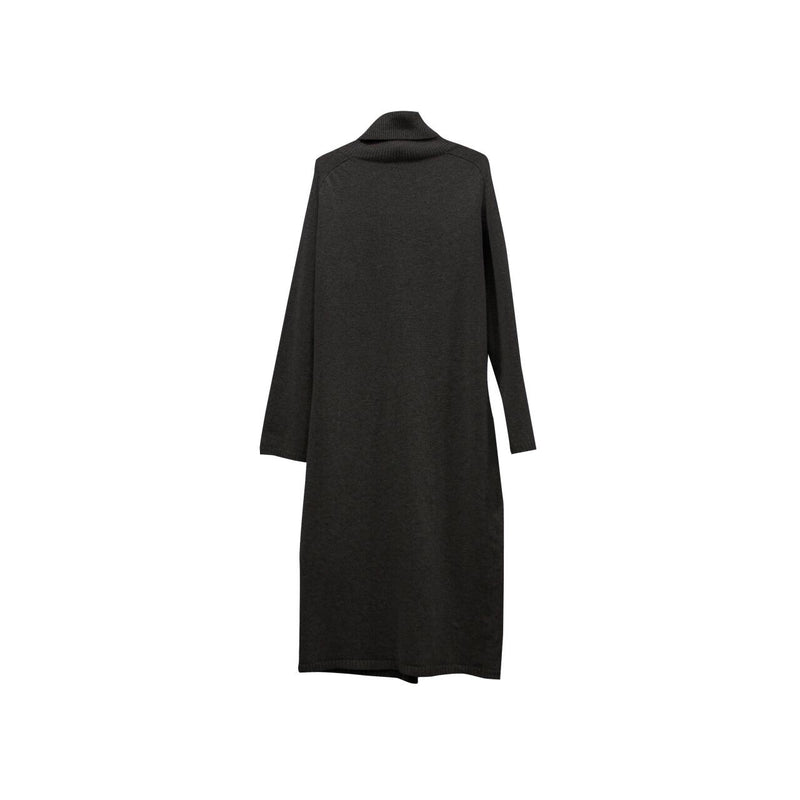 TURTLENECK CASHWOOL SPLIT DRESS