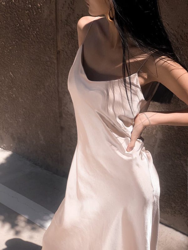 LUXE SILK SLIP DRESS