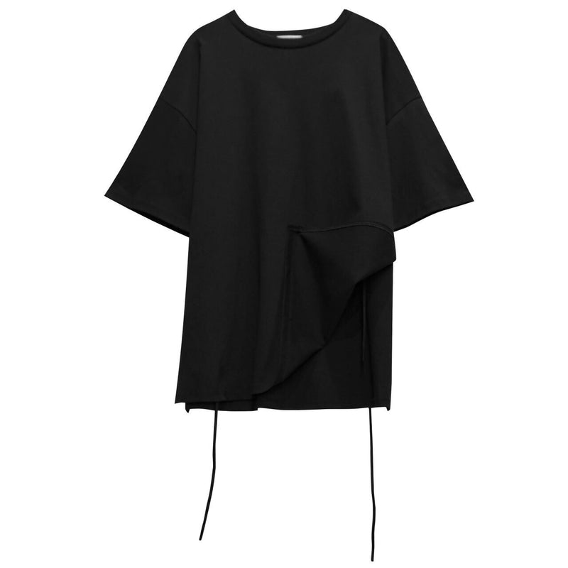 BACK STRING SIDE SLIT DETAIL T-SHIRT