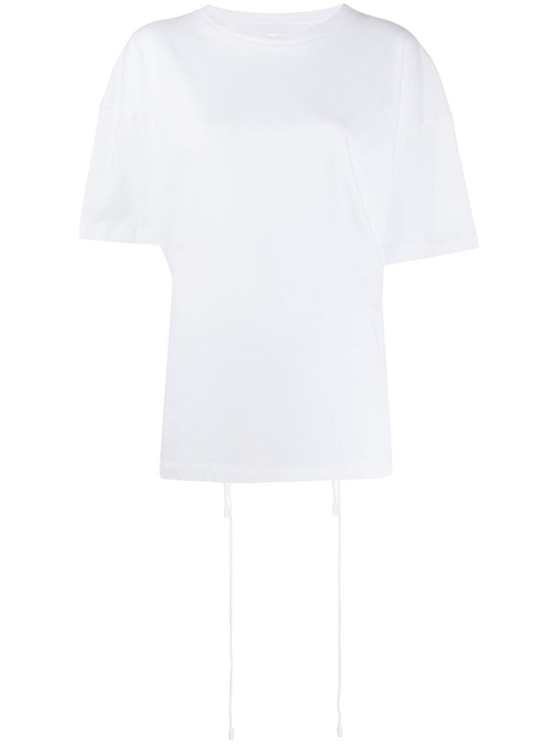 COTTON T-SHIRT WITH BACK STRING DETAIL