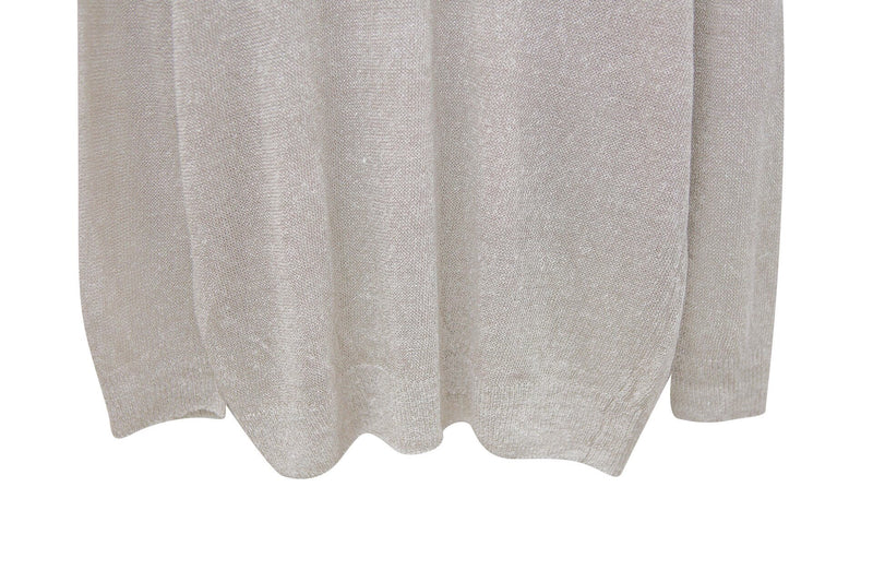 OVERSIZED SHEER LINEN KNIT