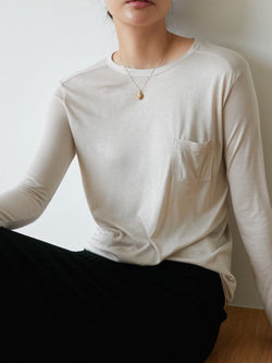 BASIC ROUND NECK LONG SLEEVE TEE