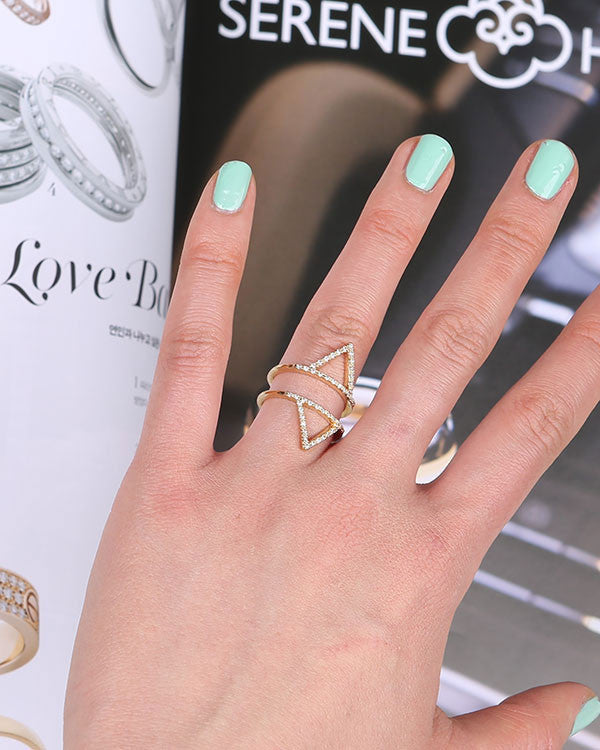 [LAUREL] TRIANGLE CAGE RING