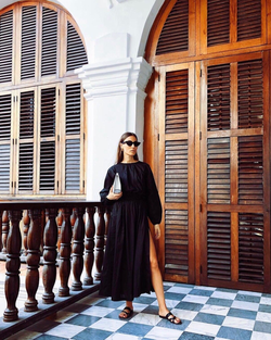 THE LONG SLEEVE SPLIT MAXI DRESS