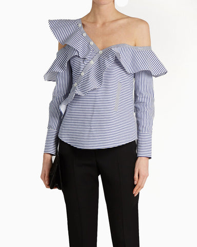 ASYMMETRIC OPEN SHOULDER BLOUSE