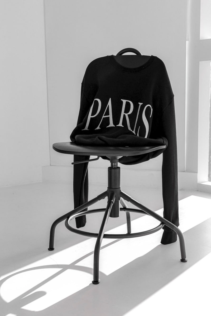 PRINTED PARIS SWEATSHIRT