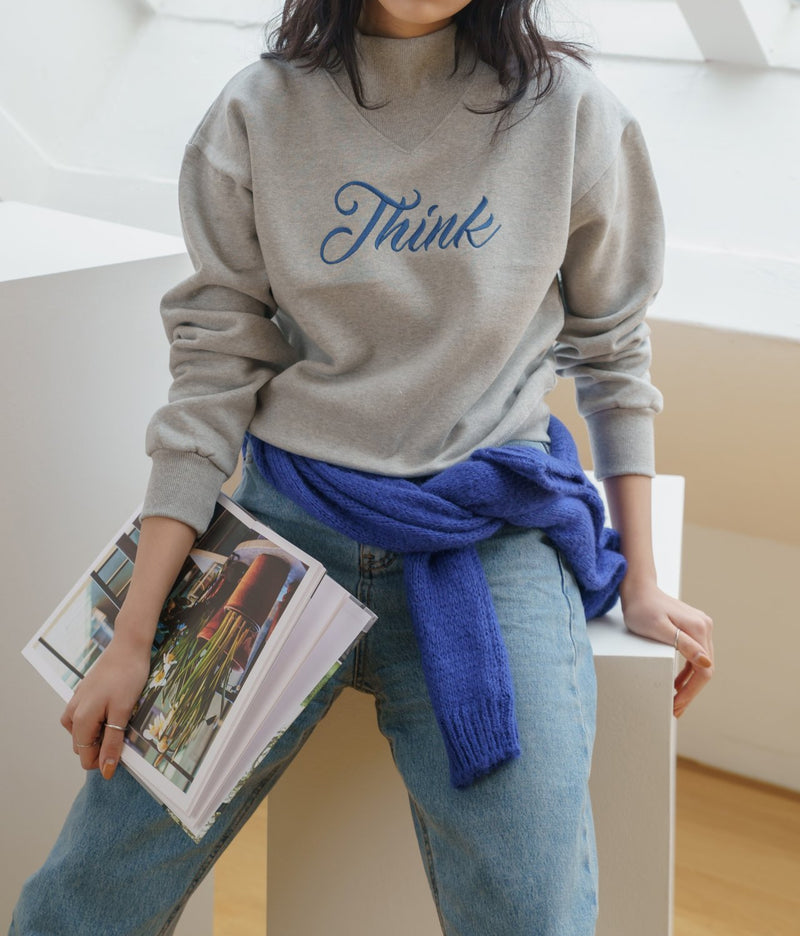 THINK PRINTED COTTON SWEATSHIRT