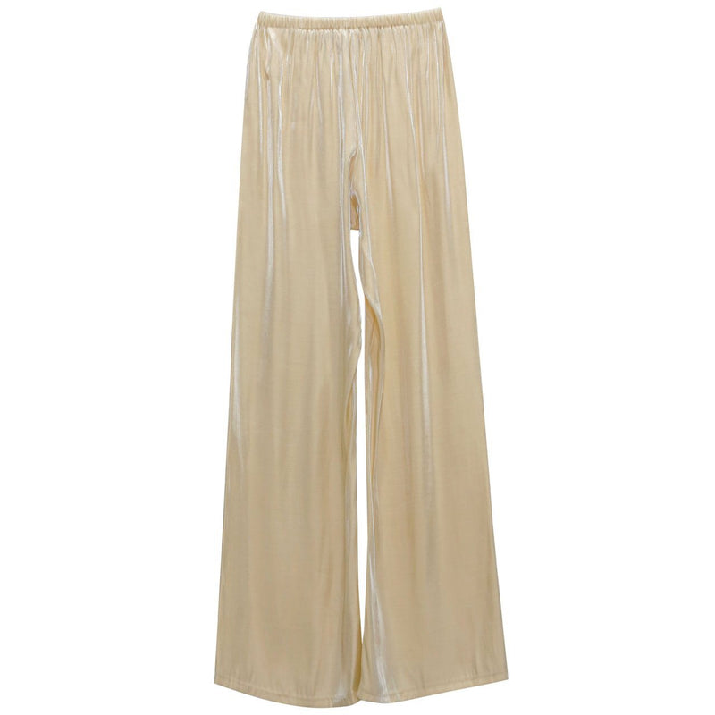 SILKY BANDED WIDE LEG PANTS
