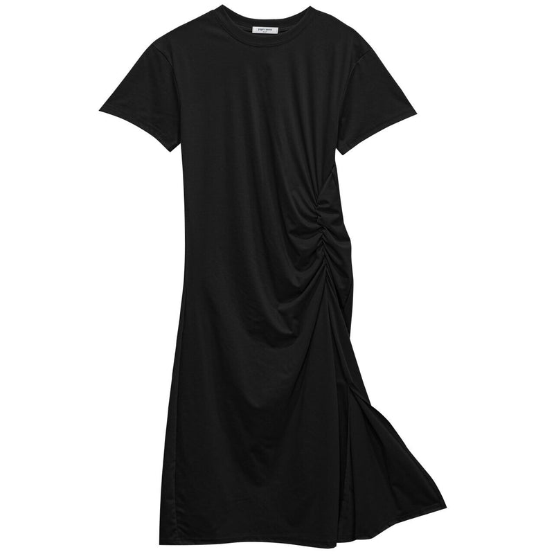 SILKET SIDE-SHIRRED DETAIL DRESS