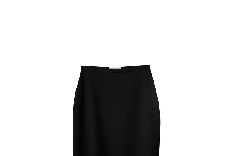 CREPE ASYMMETRICAL SKIRT