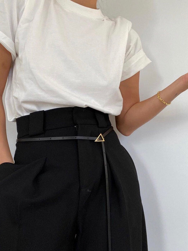 TRIANGLE DETAIL SKINNY BELT