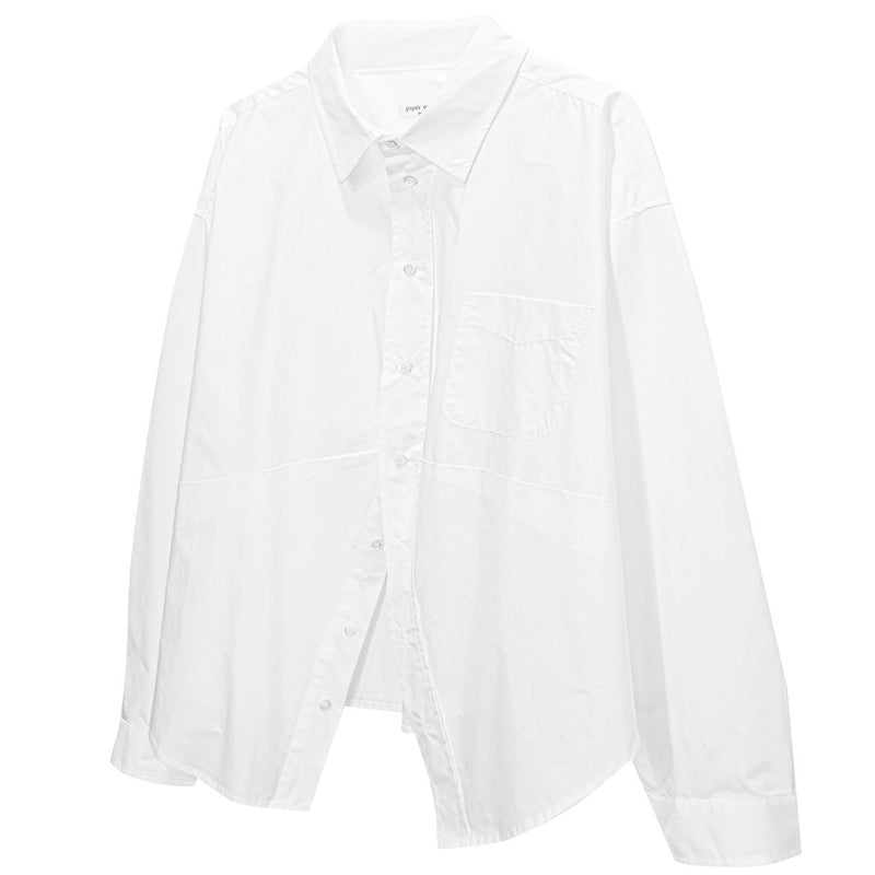 OVERSIZED TWO WAY COTTON SHIRT