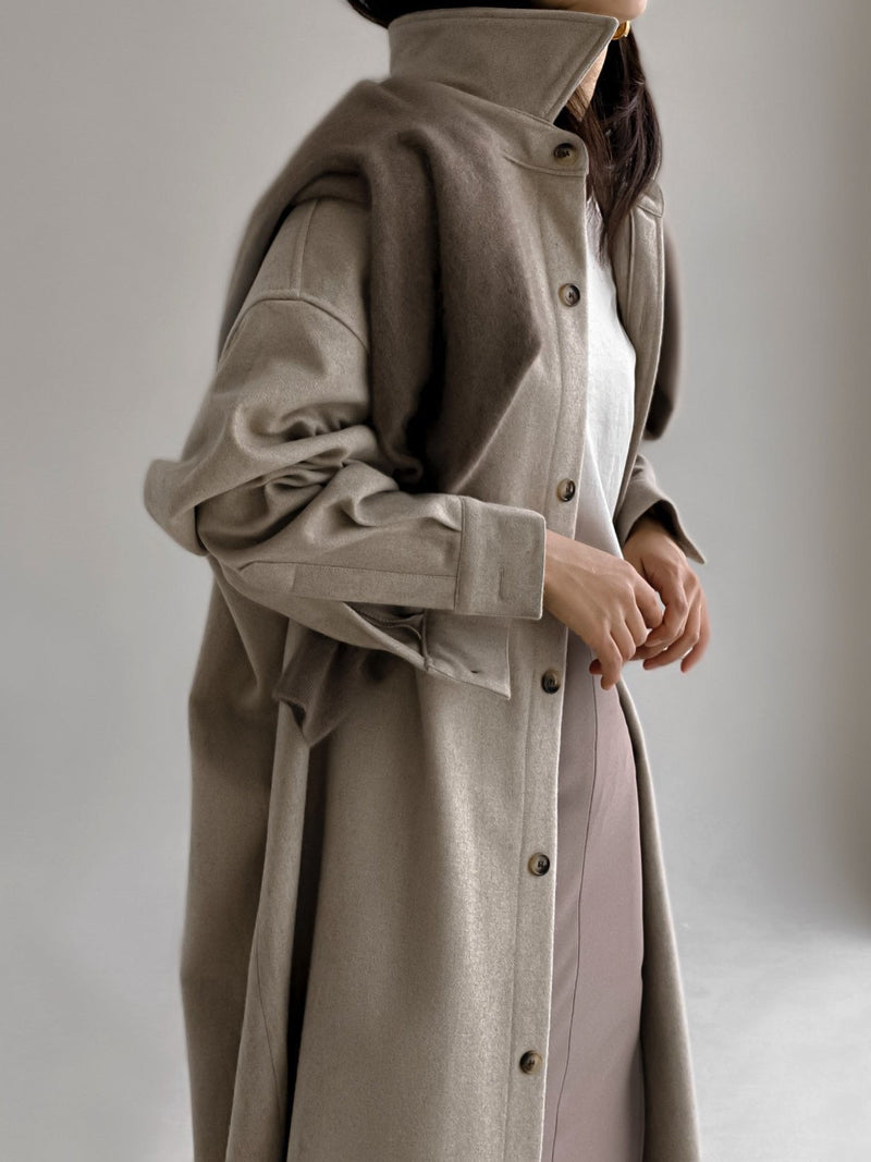OVERSIZED WOOL MAXI SHIRT COAT