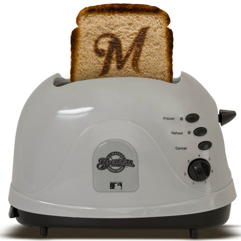 Milwaukee Brewers Toaster Gray