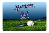 Milwaukee Brewers Baseball Pet Bowl Mat-L
