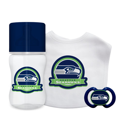 Seattle Seahawks Baby Gift Set 3 Piece