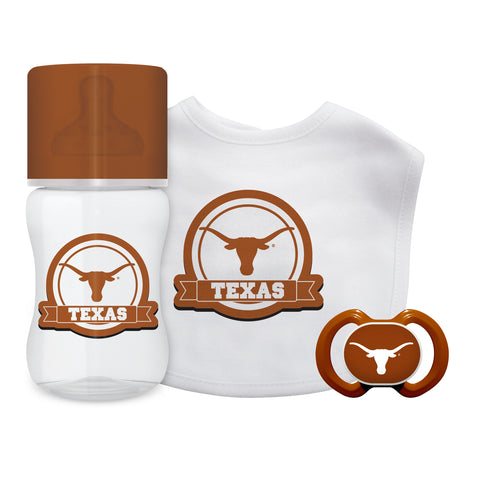 Texas Longhorns Baby Gift Set 3 Piece