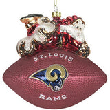 St. Louis Rams Ornament 5 1/2 Inch Peggy Abrams Glass Football