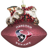 Houston Texans 5 1/2 Peggy Abrams Glass Football Ornament