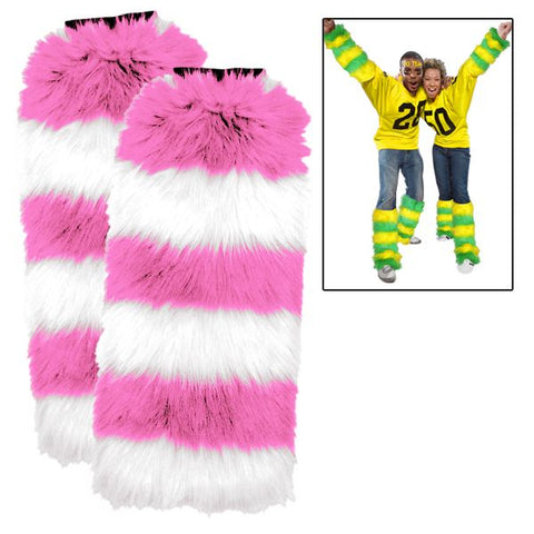 Leg Warmers 2 Pack Pink/White