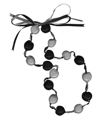 Lucky Kukui Nuts Necklace Black/Silver