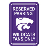 Kansas State Wildcats Sign - Plastic - Reserved Parking - 12 in x 18 in
