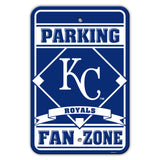 Kansas City Royals Sign - Plastic - Fan Zone Parking - 12 in x 18 in