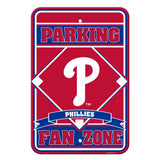 Philadelphia Phillies Sign - Plastic - Fan Zone Parking - 12 in x 18 in