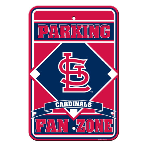 St. Louis Cardinals Sign - Plastic - Fan Zone Parking - 12 in x 18 in