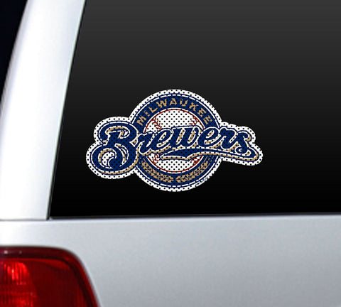Milwaukee Brewers Die-Cut Window Film - Large