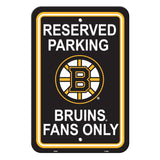 Boston Bruins Sign - Plastic - Reserved Parking - 12 in x 18 in