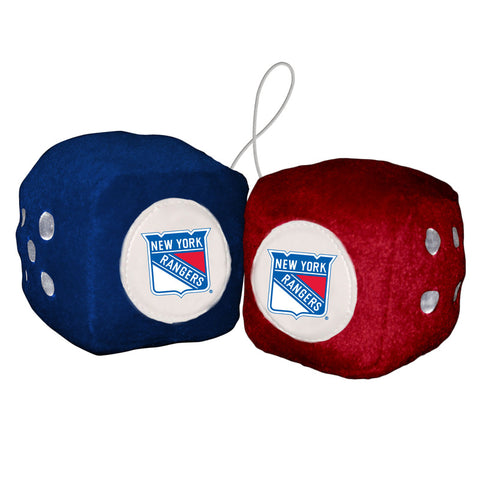 New York Rangers Fuzzy Dice