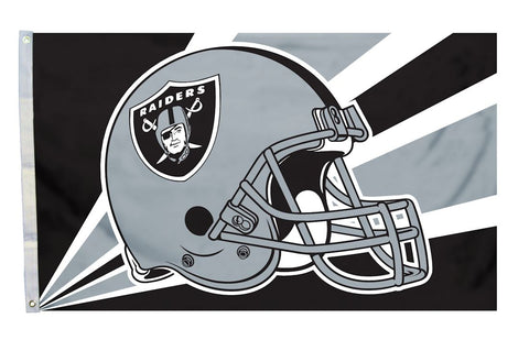 Oakland Raiders Flag 3x5 Helmet Design