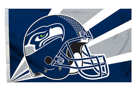 Seattle Seahawks Flag 3x5 Helmet Design