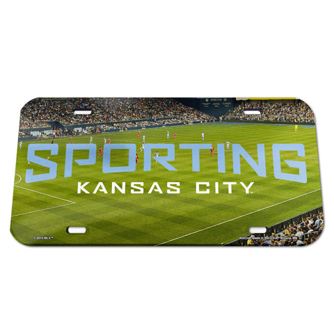 Sporting Kansas City License Plate Crystal Mirror Stadium Design