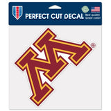 Minnesota Golden Gophers Decal 8x8 Perfect Cut Color