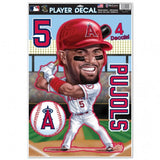 Los Angeles Angels Albert Pujols Caricature Decal 11x17 Multi Use