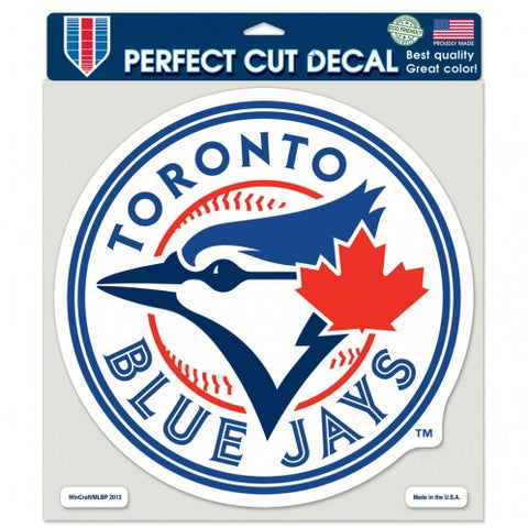 Toronto Blue Jays Decal 8x8 Perfect Cut  Color