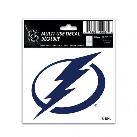 Tampa Bay Lightning Decal 3x4 Multi Use Color Special Order