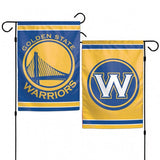 Golden State Warriors Flag 12x18 Garden Style 2 Sided