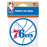 Philadelphia 76ers Decal 4x4 Perfect Cut Color Special Order